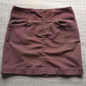 Athleta Corduroy Mauve Casual Skirt Size 6